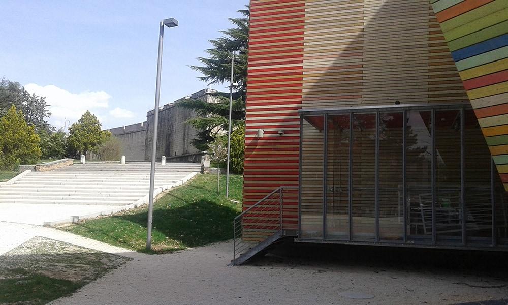 Auditorium Renzo Piano - Forte Spagnolo (sullo sfondo)