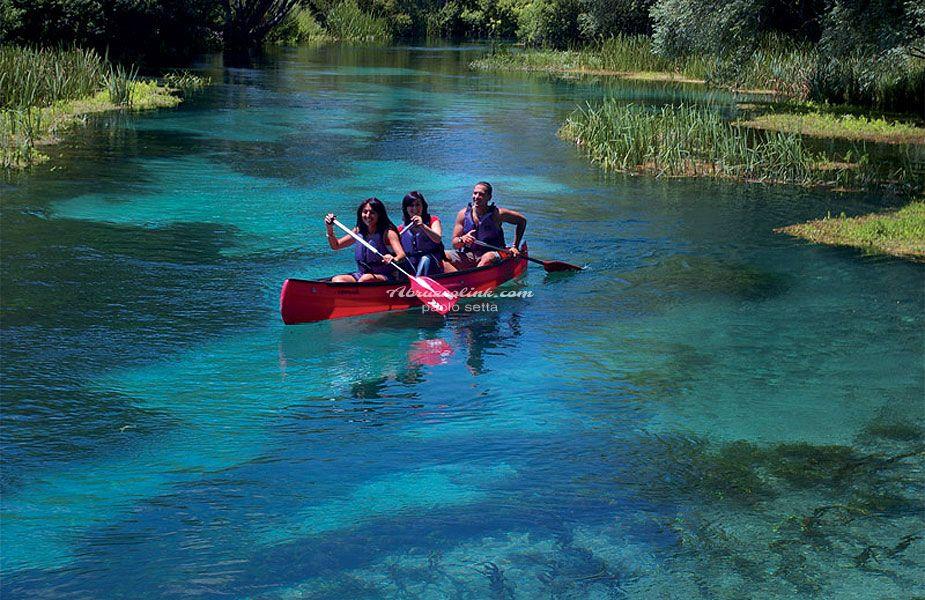 In canoa sul fiume Tirino - PH Paolo Setta